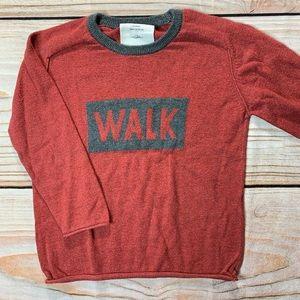 Zara red WALK sweater size 4 year